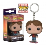 POCKET POP! KEYCHAIN: BACK TO THE FUTURE - MARTY ON HOVERBOARD brelok