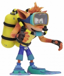 Crash Bandicoot: Deluxe Crash Bandicoot with Scuba Gear 7 inch Action Figure