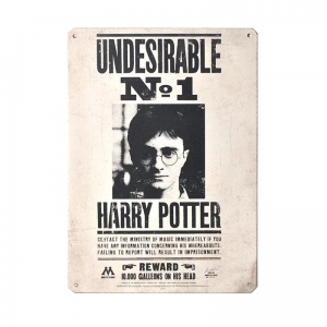 Harry Potter: Undesirable No. 1 Metal Sign
