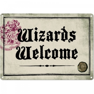 Harry Potter: Wizards Welcome Metal Sign