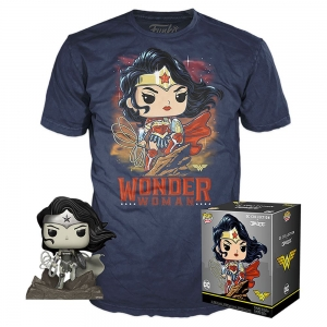 DC Jim Lee POP! & Tee Box Wonder Woman exclusive size s