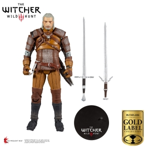 The Witcher Action Figure Geralt of Rivia Gold Label series 18cm