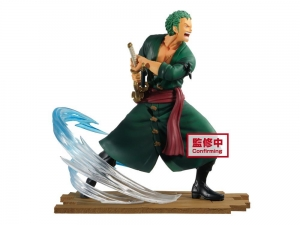 One Piece Log File Selection -Fight- PVC Statue Roronoa Zoro 14 cm