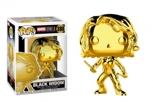 POP Marvel: MS 10 - Black Widow (Gold Chrome)