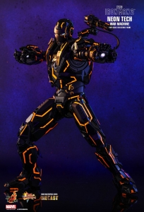 Neon Tech War Machine Sixth Scale Diecast Figure