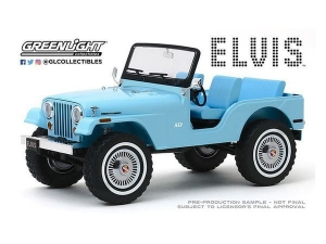 Elvis Presley: Jeep CJ-5 Sierra 1:18 Blue