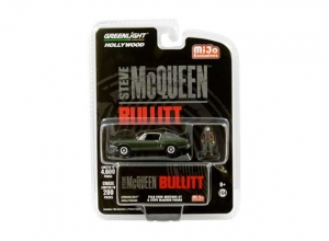 Bullitt: 1968 Ford Mustang Steve McQueen with Figure 1:64 Green