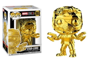 POP! Bobble: Marvel: Marvel Studios 10: (Chrome) Star-Lord exclusive