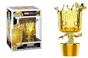 POP! Bobble: Marvel: Marvel Studios 10: (Chrome) Groot exclusive