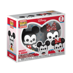 POCKET POP KEYCHAIN: DISNEY - MICKEY & MINNIE 2-PACK