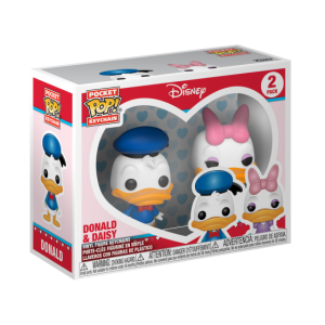 POCKET POP KEYCHAIN: DISNEY - DONALD & DAISY 2-PACK