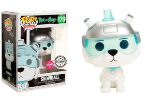 Pop! Animation: Rick and Morty - Snowball exclusive FLOCKED