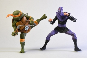 TMNT: Cartoon Michelangelo vs Foot Solider 7 inch AF 2-Pack