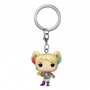 POP Keychain: Birds of Prey- Harley Quinn (Caution Tape)