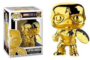 POP! Bobble: Marvel: Marvel Studios 10: (Chrome) Captain America exclusive