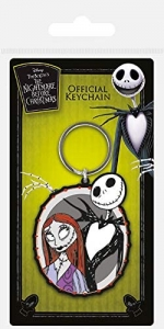 Nightmare Before Christmas: Jack  and Sally Rubber Keychain