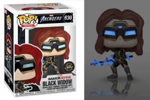 POP! GAMES: MARVEL AVENGERS GAMERVERSE - BLACK WIDOW glows in the dark chase