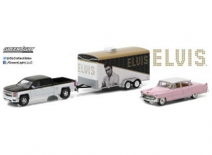 Elvis Presley: 2015 Chevrolet Silverado with 1955 Cadillac Fleetwood Series 60 with trailer