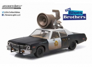 Blues Brothers: 1974 Dodge Monaco with the Horn on the Roof 1:43 Black-White