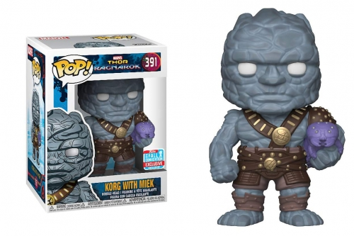 Funko Pop! Marvel Thor Ragnarok Korg with Miek Fall Convention Exclusive Figure