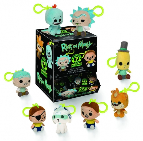 Mystery Mini Blind Bag Plush Keychain: Rick and Morty